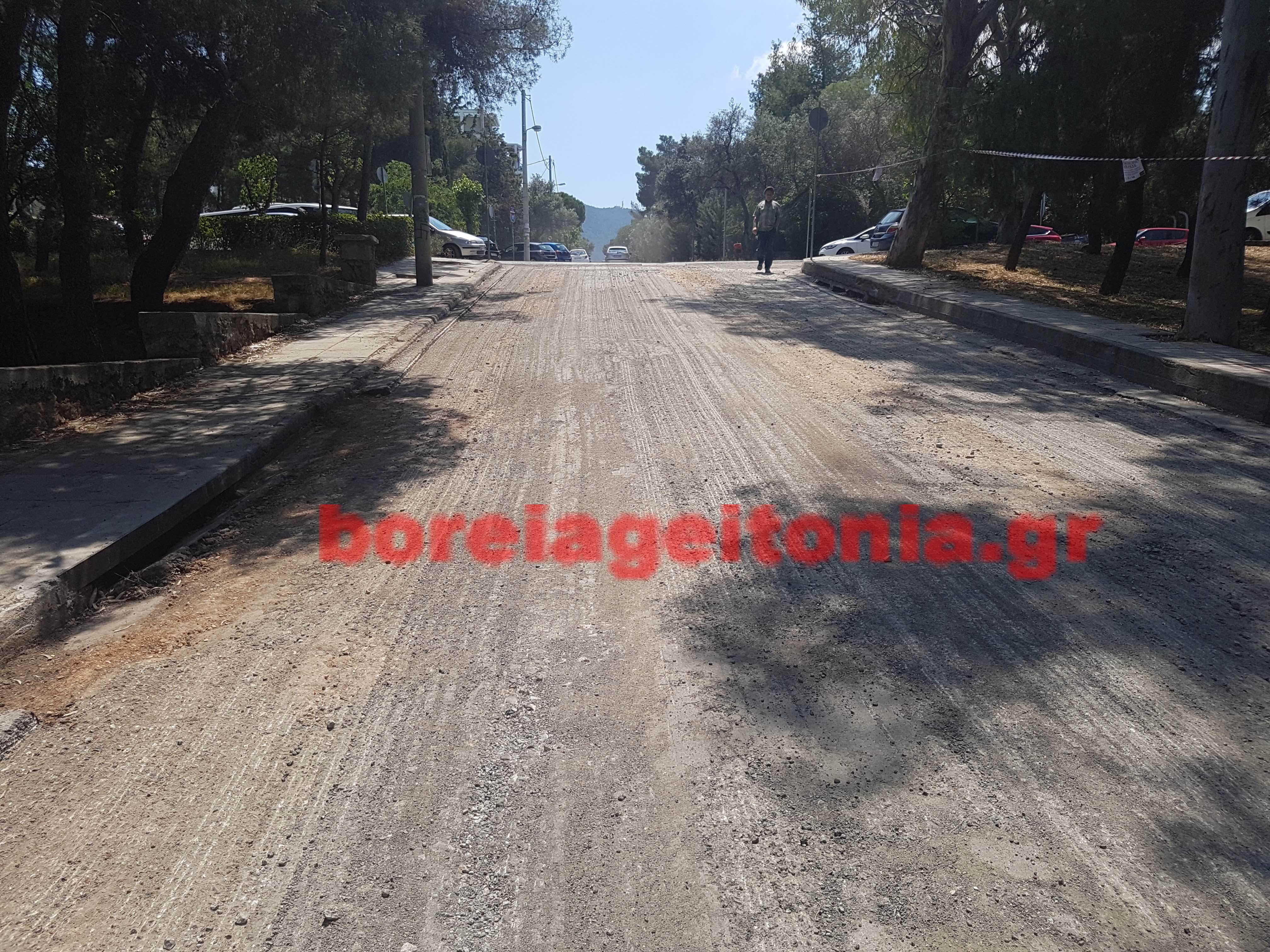 Ασφαλτοστρώσεις στο Δήμο Παπάγου - Χολαργού δείτε τους δρόμους