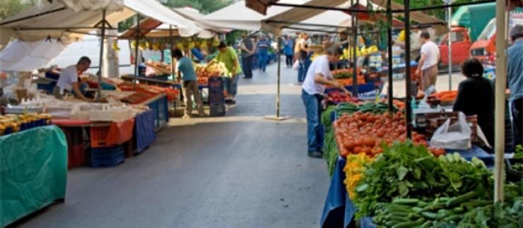 Αλλάζει θέση η λαϊκή αγορά στην κοινότητα Χολαργού