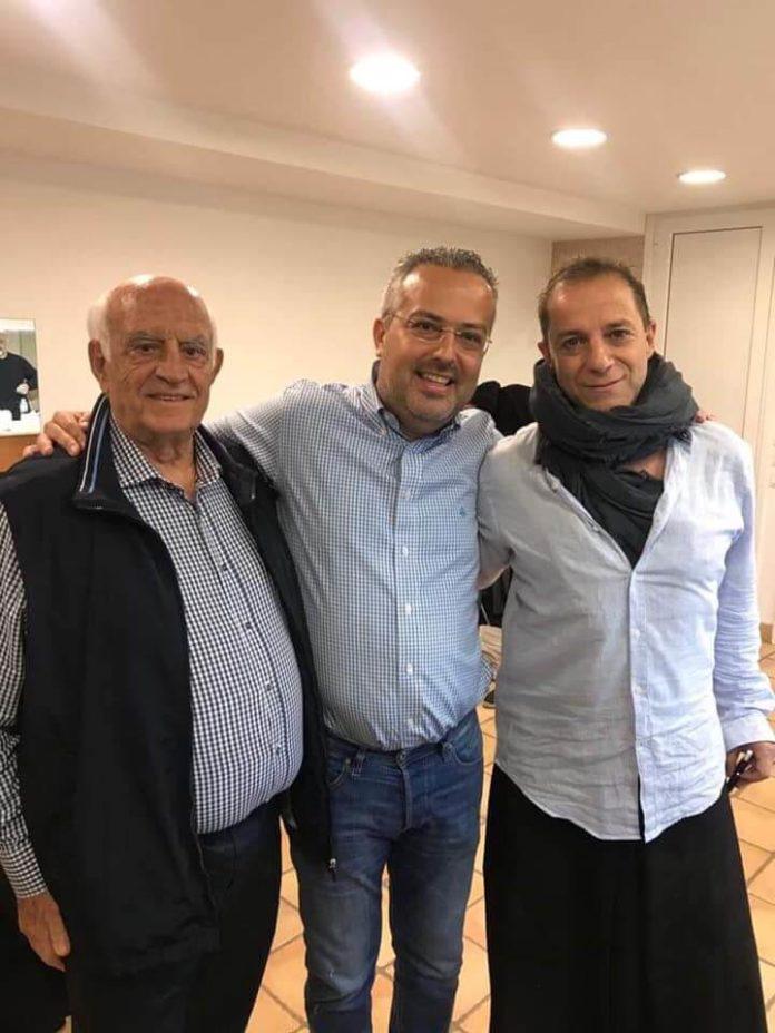 O Ηλίας Αποστολόπουλος παρέα με τον Δημήτρη Λιγνάδη