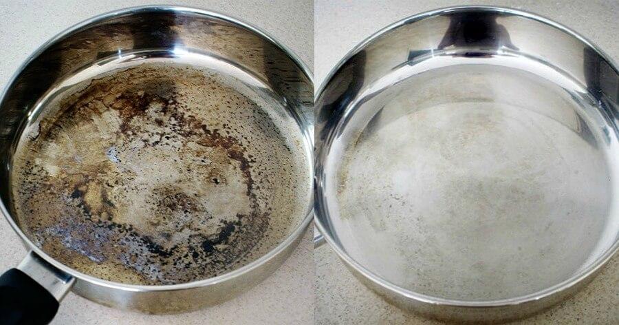Καμμένα λίπη: Έξυπνο κόλπο για να καθαρίσετε τα μαγειρικά σας σκεύη