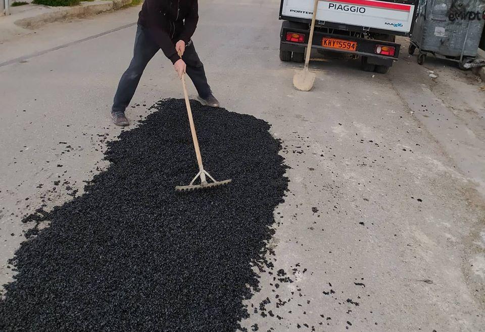 Νέα Ιωνία: Συνεχίζονται οι εργασίας επισκευής οδοστρωμάτων
