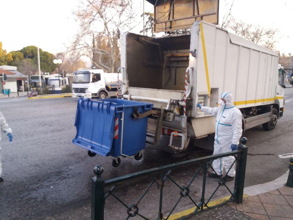 Απολύμανση και καθαρισμός κάδων απορριμμάτων στον Δήμο Κηφισιάς