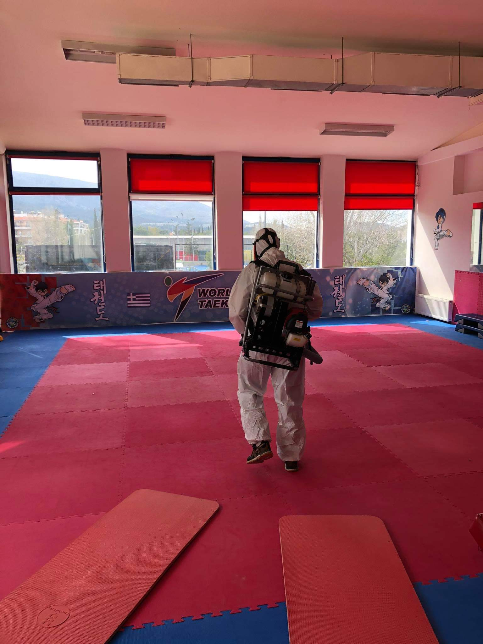 ΔΟΠΑΠ: Απολύμανση στο Γυμναστήριο του δήμου Παπάγου - Χολαργού