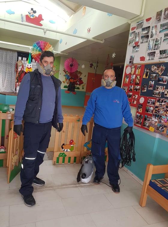 Δήμος Πεντέλης: Από τους Παιδικούς Σταθμούς ξεκίνησε η προληπτική απολύμανση