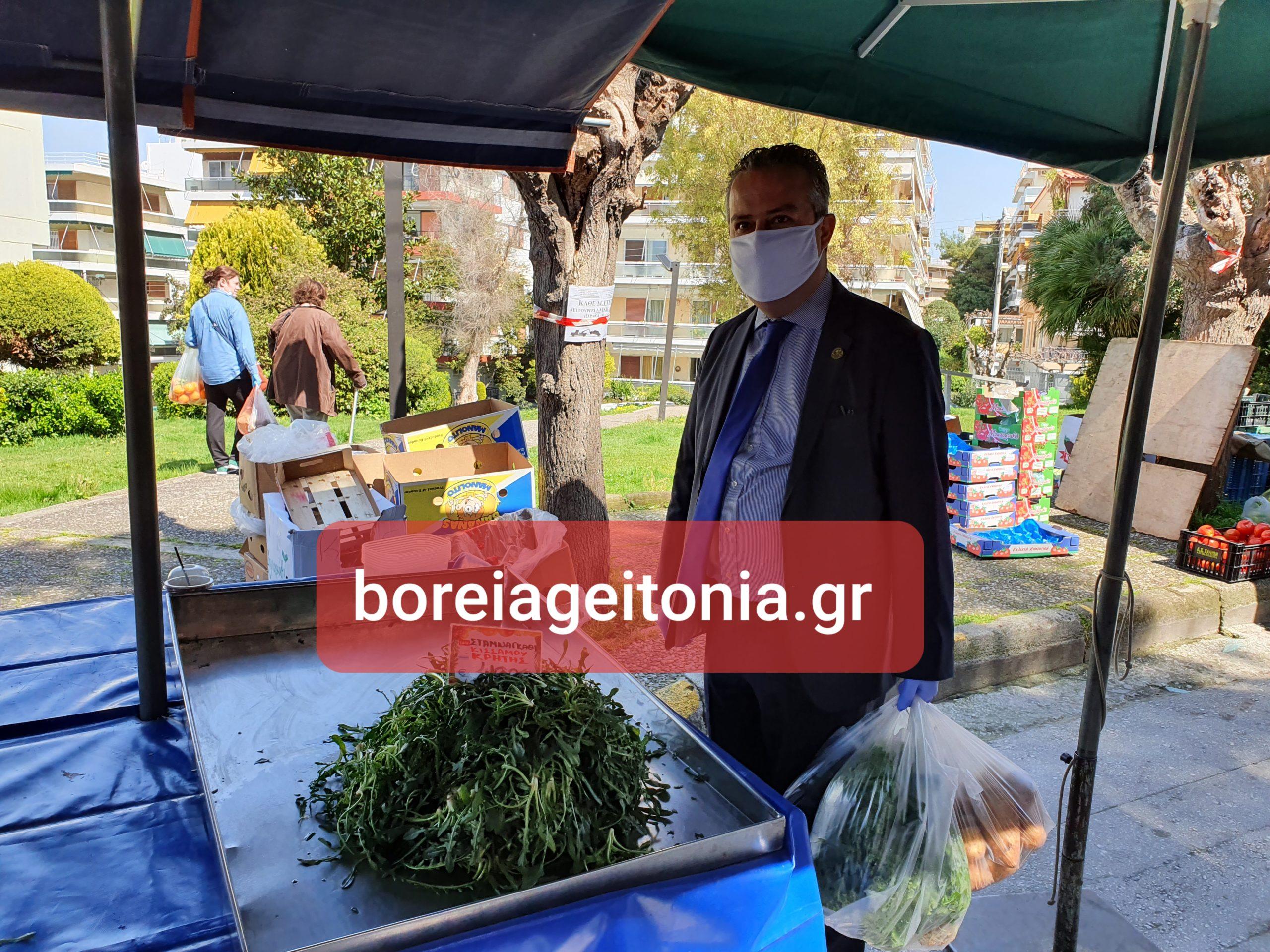 Ηλίας Αποστολόπουλος: Δείτε τις δηλώσεις του στην λαϊκή αγορά του Χολαργού