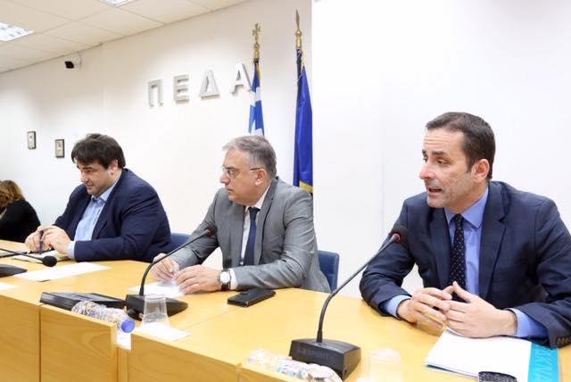 """""""Στη συνάντηση της ΠΕΔΑ με την ηγεσία του Υπουργείου Εσωτερικών ο Δήμαρχος"""""""
