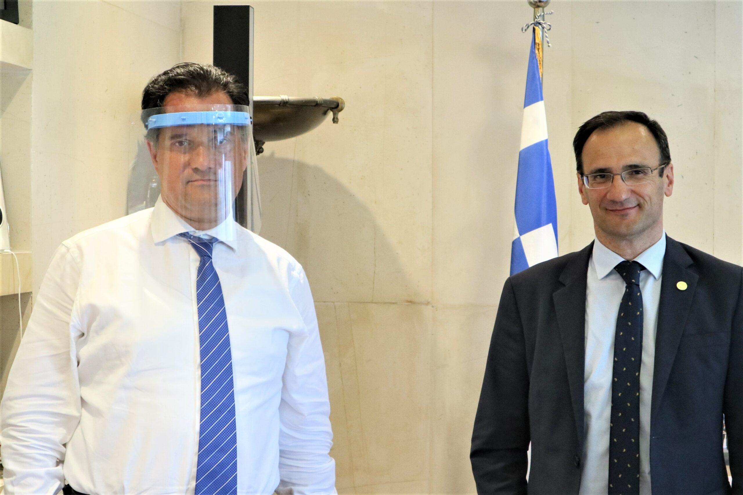 Άδωνις Γεωργιάδης: Συνάντηση με τον δήμαρχο Σερρών Αλέξ. Χρυσάφι