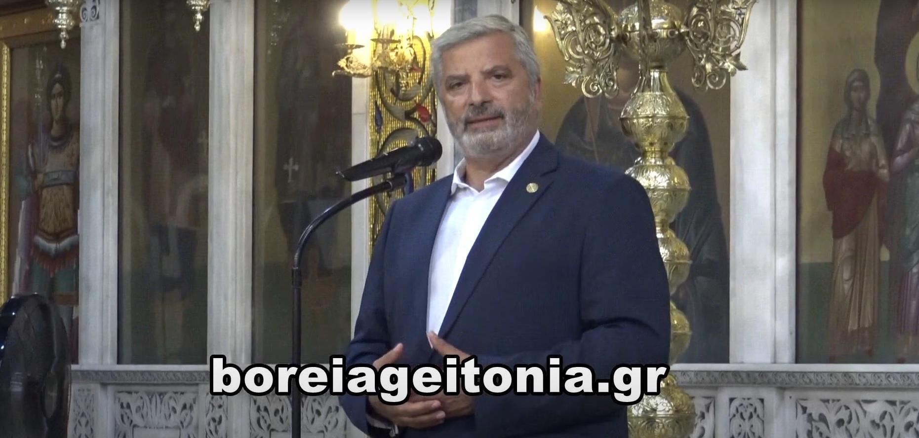Γιώργος Πατούλης: Η ομιλία του στην κηδεία του Θάνου Βεζυργιάννη
