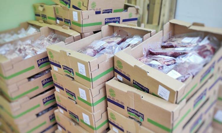 Λυκόβρυση Πεύκη: Διανομή κρέατος σε 128 οικογένειες