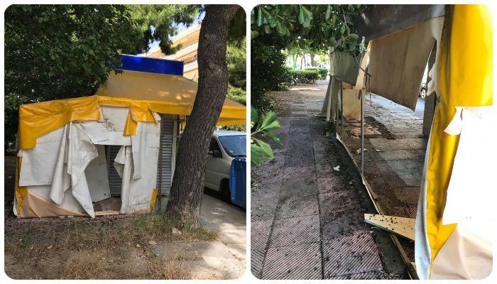Συμμαχία Πολιτών: Τρία χρόνια ξεχασμένο στο κέντρο της Πεύκης το περίπτερο