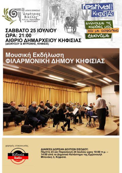 Festival Kifisias 2020: Avlaia me tin Filarmoniki tou Dimou