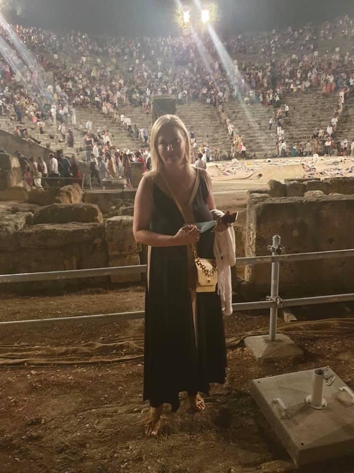 Άννα-Μαρία Τσικρικώνη: Στην Επίδαυρο και στο Ναύπλιο με τον αρχηγό του ΓΕΕΘΑ