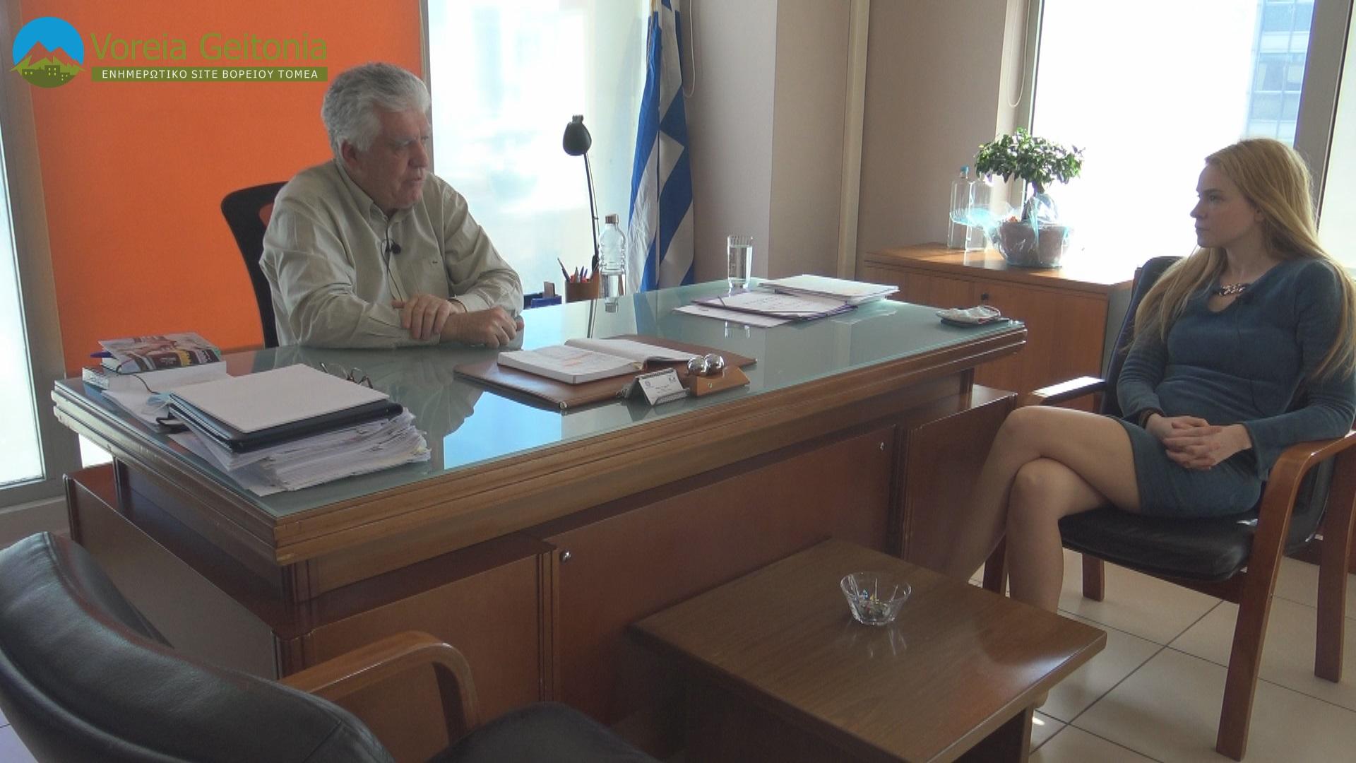 Βασίλης Ζορμπάς: Συνέντευξη Δημάρχου Αγίας Παρασκευής στην Δήμητρα Κούτρα
